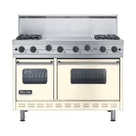 """Biscuit 48"""" Sealed Burner Range - VGIC (48"""" wide, four burners 24"""" wide griddle/simmer plate)"""