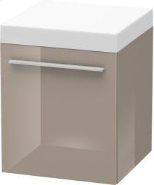 Mobile Storage Unit, Cappuccino High Gloss Lacquer