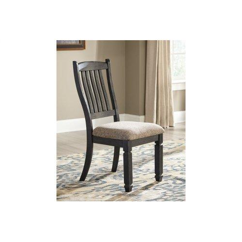 Slat Back Upholstered Side Chair