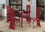 5 Pc. Red Contemporary Dining Set Product Image