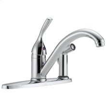 Chrome Single Handle Kitchen Faucet with Integral Spray