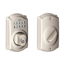 Camelot trim Keypad Deadbolt - Satin Nickel