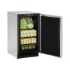 """U-Line 2000 Series 18"""" Solid Door Refrigerator With Stainless Solid Finish And Field Reversible Door Swing (115 Volts / 60 Hz)"""
