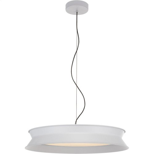 Visual Comfort PB5022STW Peter Bristol 60/40 LED 26 inch Stone White Pendant Ceiling Light