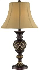 Table Lamp - Two-tone/beige Fabric Shade, E27 Type A 100w Product Image