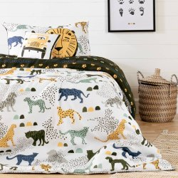 Kids Bedding set: Comforter, Pillowcase and decorative cushions Safari Wild Cats - 39''