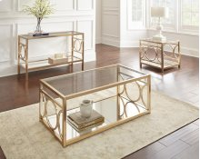 """Olympia Cocktail Table, Gold, 47""""x23.5""""x18.5"""""""