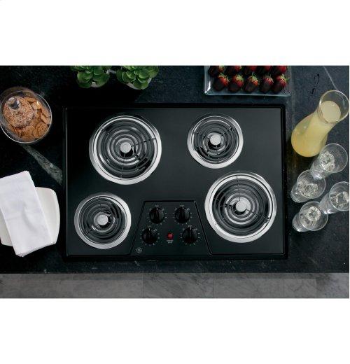 "GE® 30"" Built-In Electric Cooktop"
