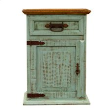 """Nightstand Left : 26"""" x 20"""" x 32"""" Turquoise Washed Collection"""