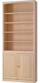 Pine 36 Inch Bookcase with Doors Product Image