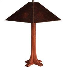 Mica Shade Cross Base Table Lamp