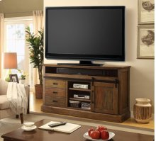"""67"""" TV Console With Sliding Doors & Drawers"""