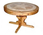 """60"""" Round Marble Table W/star Product Image"""