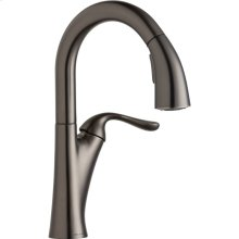 Elkay Harmony Single Hole Bar Faucet with Pull-down Spray and Forward Only Lever Handle Antique Steel