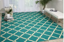 Portico Por01 Aqua Rectangle Rug 8' X 10'6''