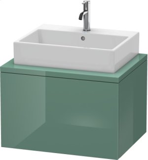 Delos Vanity Unit For Console, Jade High Gloss Lacquer Product Image