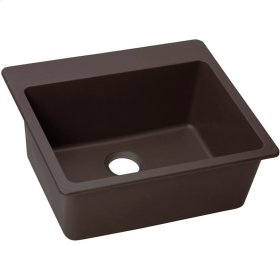 "Elkay Quartz Luxe 25"" x 22"" x 9-1/2"", Single Bowl Drop-in Sink, Chestnut"