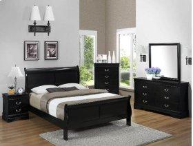 5 PC. Black Louis Philip Queen Bedroom Set