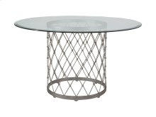 Antique Copper Royere Dining Table With Glass Top