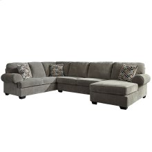 Signature Design by Ashley Jinllingsly 3-Piece Left Side Facing Sofa Sectional in Gray Corduroy [FSD-1949SEC-3LAFS-GRY-GG]