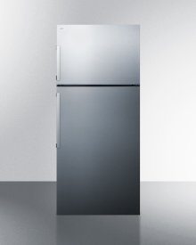 Energy Star Certified Counter Depth Refrigerator-freezer With Stainless Steel Door and Platinum Cabinet