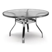 """48"""" Round Dining Table (with Hole) Ht: 27"""" 37XX Universal Aluminum Base (Model # Includes Both Top & Base) Product Image"""