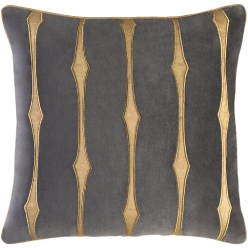 "Graphic Stripe GS-004 22"" x 22"" Pillow Shell with Down Insert"