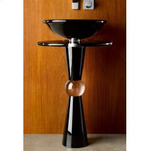 Cono Pedestal - Shown with 230 Basin and Black Countertop