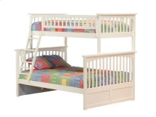 Columbia Bunk Bed Twin over Full in White