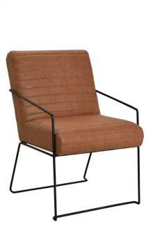 Bengal Manor Iron and Stitched Leather Accent Chair