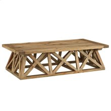 Camp Wood Coffee Table in Brown