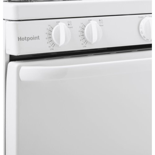 """Hotpoint® 20"""" Electric Free-Standing Front-Control Electric Range"""