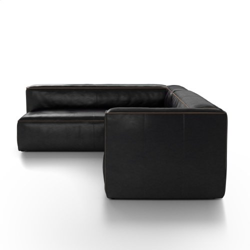 2 Piece - Right Arm Facing Configuration Rider Black Cover Nolita Sectional