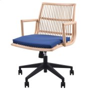 Virza KD Rattan Office Chair, Deep Blue Product Image