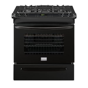 Gallery 30'' Slide-In Gas Range - BLACK