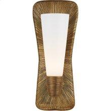 Visual Comfort KW2044G-WG Kelly Wearstler Utopia 8 inch Gild Bath Sconce Wall Light, Kelly Wearstler, Large, Single, White Glass