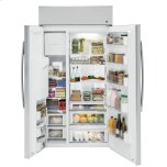 "GE Profile Series 42"" Built-In Side-By-Side Refrigerator With Dispenser"