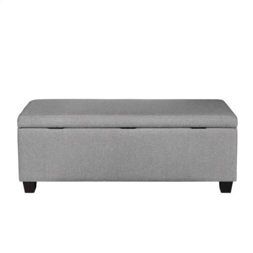 Upholstered Shoe Storage Bench in Glacier Grey