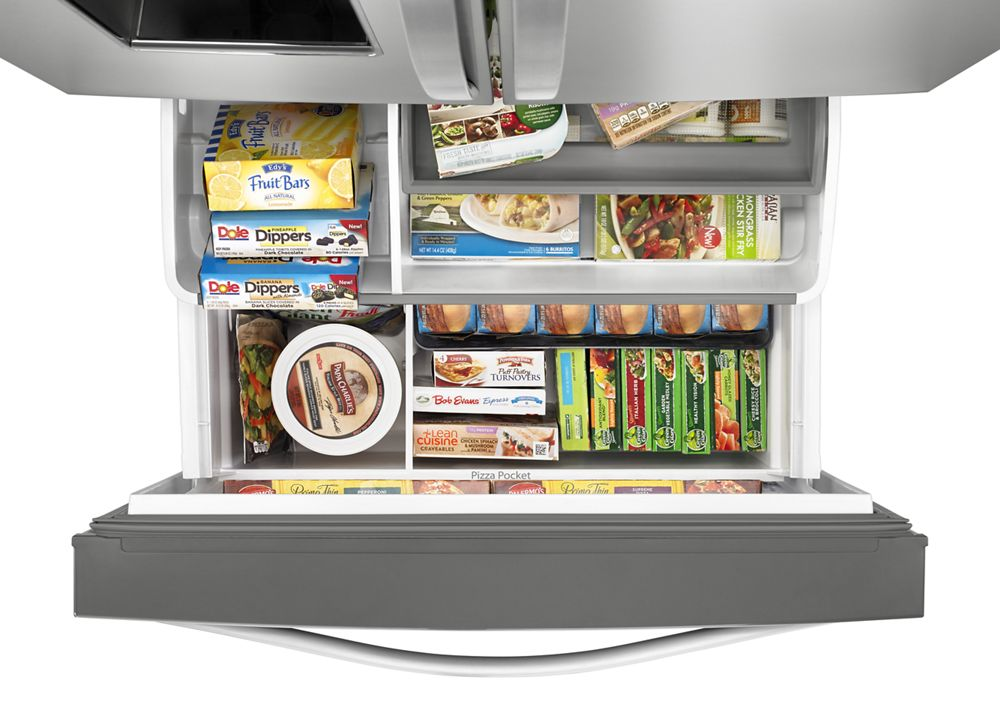 Hidden · Additional 36 Inch Wide French Door Refrigerator With Infinity  Slide Shelf   32 Cu.