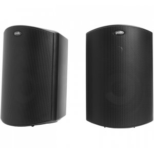 "Polk AudioAll Weather Outdoor Loudspeakers with 5"" Drivers and 3/4"" Tweeters in Black"