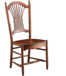 Sheaf Back Side Chair w/ Wood Seat