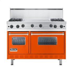 """Pumpkin 48"""" Open Burner Commercial Depth Range - VGRC (48"""" wide, four burners 24"""" wide griddle/simmer plate)"""