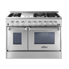 48 Inch Professional Dual Fuel Range In Stainless Steel