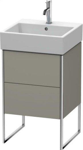 Vanity Unit Floorstanding, Stone Grey Satin Matt Lacquer