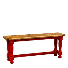 Red Washed Bench