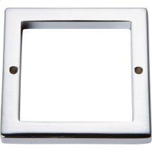 Tableau Square Base 2 1/2 Inch - Polished Chrome
