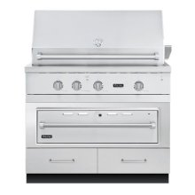 "42""W. x 30""D. Base w/36"" Warming Drawer Access"