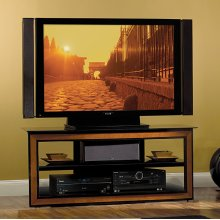 AVSC2124 Cherry Wood Trim A/V System for most Flat Panel TVs up to 55 inches from Bell'O International Corp.