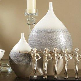 Cream Rises Vase-Wide-Lg