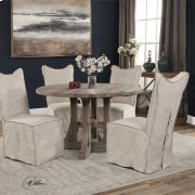 Delroy, Armless Chair, Stone Ivory, Product Image